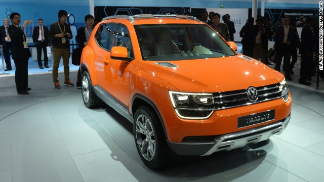 German auto major Volkswagen unveils its concept SUV Taigun for the Indian market.