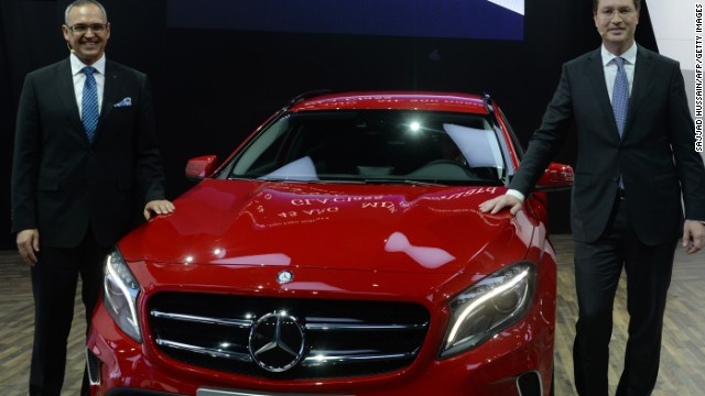 Mercedes-Benz shows off their luxury compact crossover GLA in New Delhi.