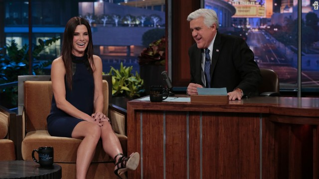 Sandra Bullock's tearful goodbye to Jay Leno