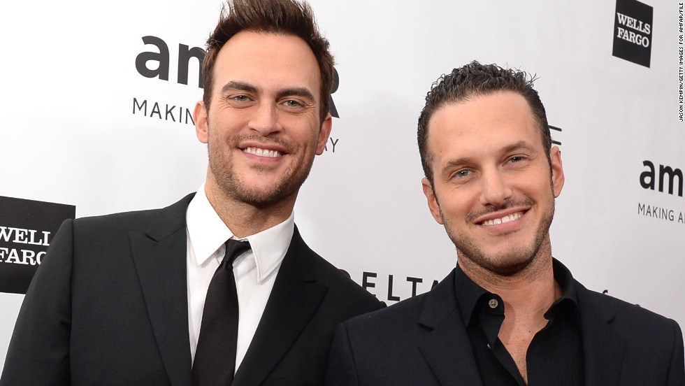 "The cast of ""Glee"" needs to start shopping for more wedding presents. Their co-star Cheyenne Jackson, left, got engaged to actor Jason Landau, right, about a month after ""Glee"" actress Dot-Marie Jones tied the knot. See which other same-sex celebrity couples are anticipating matrimony or have already wed:"