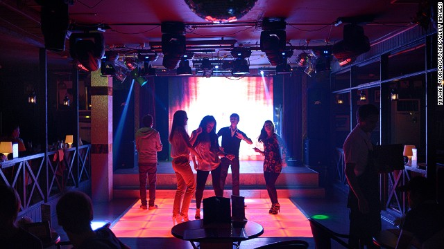 Sochi has no gay people, according to its mayor, but it does have gay bars such as this one. Hm. In fact, the resort has long had a lively gay scene.