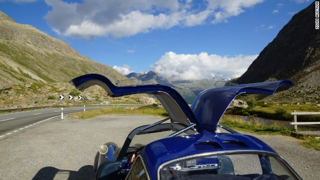 """I took this picture during a tour through the Swiss Alps,"" said Sauber's Adrian Sutil. ""It combines all of my passions: nature, cars, driving, Alps, Switzerland and home. It's here that I come to restore my energy levels."""