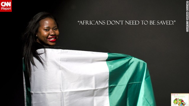 The participants, aged 18 to 21, posed with different flags from across the continent.