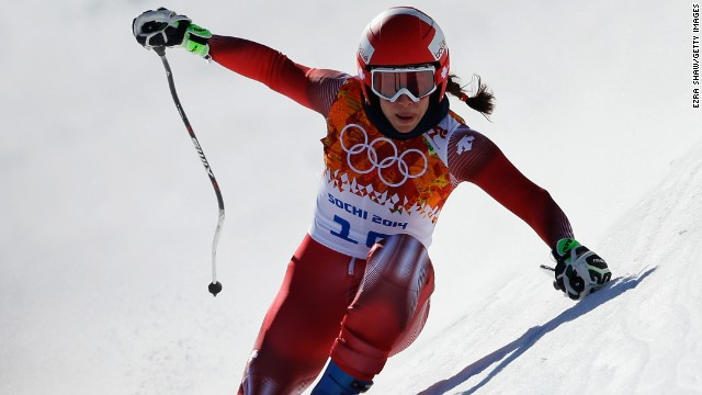 Gisin's knee problems have also dogged her skiing career and during her 15-year career she has had nine operations.