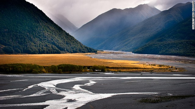 """The braided river banks and mountain light make for some great landscape photography,"" says Hollman of one of his go-to spots."