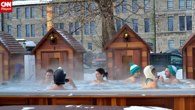 """You just forget about the cold temperature and get totally sucked into the electric atmosphere around you,"" Purohit said. Hot tubbing helps."