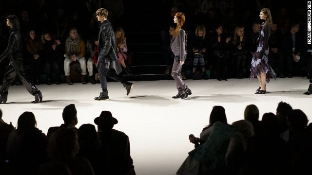 Leather jackets, trench coats and unisex pieces were mainstays during Richard Chai's runway show at Lincoln Center.