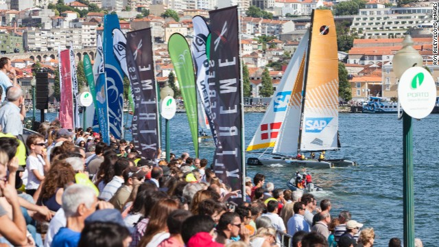 Unlike many other top-class sailing events, fans and spectators are able to get up close and personal with the competitors.