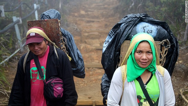 Porters earn only 128 Malaysian Ringgit ($40) for two-days' work on Mount Kinabalu. Nevertheless, the positions are highly coveted among subsistence farmers living at the foothills of the mountains.
