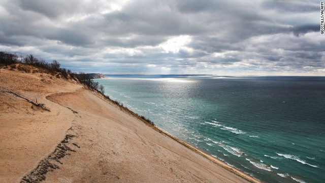 Hikes along Sleeping Bear Dunes National Lakeshore and fall color drives keep lovers of outdoorsy romance satisfied in Traverse City, Michigan.