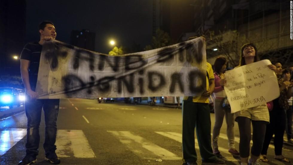 Protestas en Venezuela contra la inseguridad