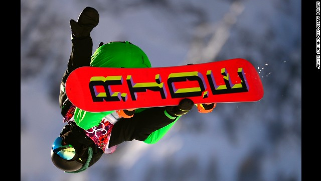 Ireland's Seamus O'Connor competes in the slopestyle semifinals.