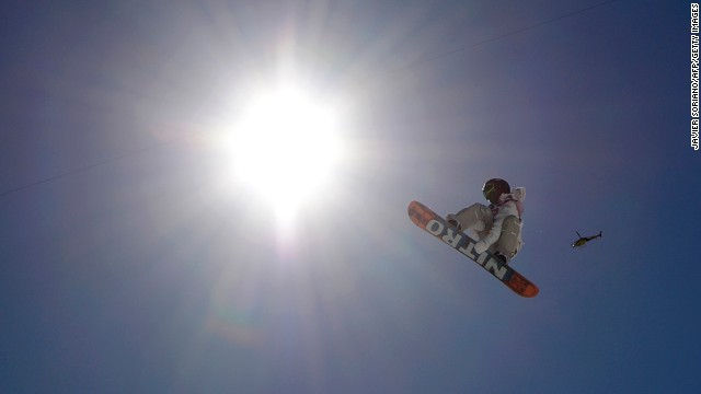 Sweden's Sven Thorgren competes in the men's slopestyle.