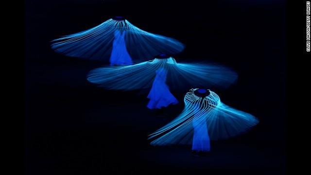 Dancers perform during the opening ceremony, which was held at Fisht Olympic Stadium on Friday, February 7.