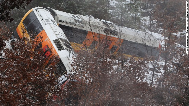 Authorities say the train was carrying 35 passengers and was traveling on a route between Saint-Benoit and Annot in a mountainous area of the department of the Alpes-de-Haute-Provence.