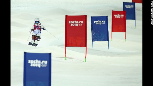 Japan's Aiko Uemura competes in the women's moguls.