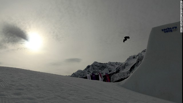 Norwegian snowboarder Silje Norendal competes in the women's slopestyle semifinals.