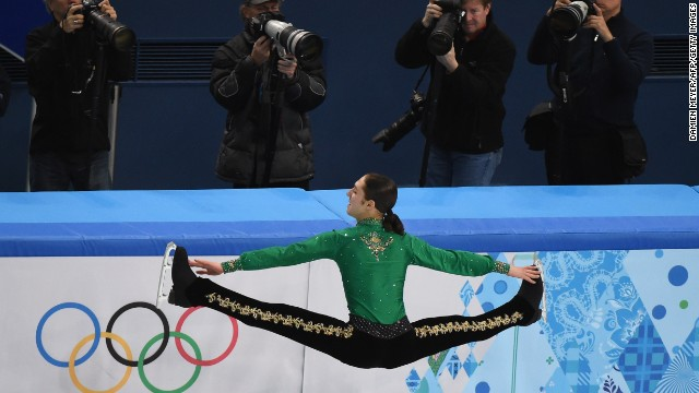 Jason Brown of the United States performs on February 9 during the men's free skate portion of the team figure skating event.