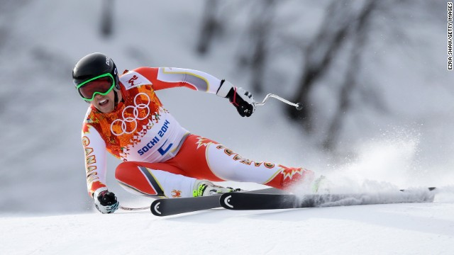 Canada's Benjamin Thomsen skis during the men's downhill on February 9.