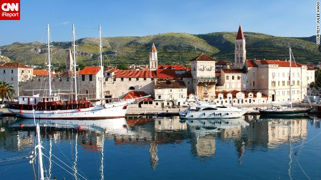 "Boats line the coast of Trogir. ""It's not hard to understand why [Croatia has] become such a popular place to travel,"" said Julee Khoo. ""Every place oozes quaint charm -- lots of cobblestone streets and stone buildings with terracotta tile roofs."" See more photos on CNN iReport."