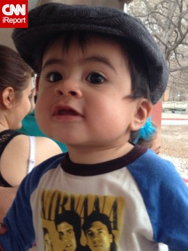 """I don't know what's happening, but it's exciting!"" -- Jaxson Soto, 13 months, was pretty pumped about his first train ride through Brackenridge Park in San Antonio, Texas."