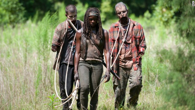 Danai Gurira plays Michonne in