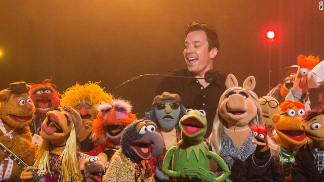 The Muppets band joined Jimmy Fallon as he hosted his last episode of