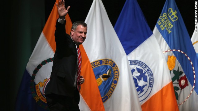 NYC mayor argues for an equal financial playing field
