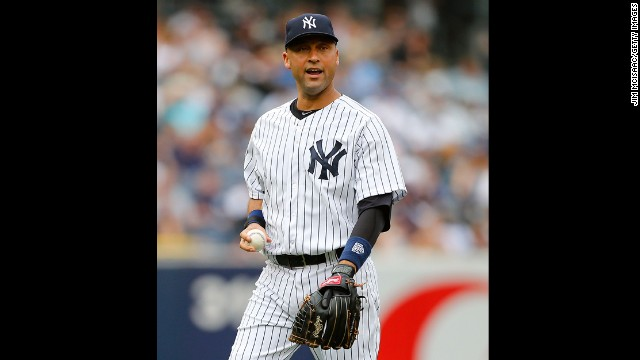 "New York Yankees shortstop Derek Jeter is the son of a white mother and black father. ""You'd go places and get stares,"" he told Barbara Walters about growing up biracial. ""If you were just with one of your parents, people would give you a double-take because something just didn't seem right."""