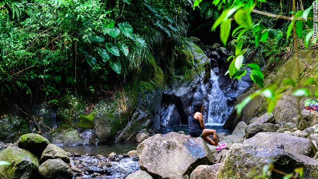 Guadeloupe National Park has more than 100 waterfalls. The most spectacular may be Les Chutes du Carbet, a series of three waterfalls reaching 360 feet.