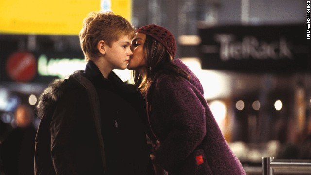 """""""Love Actually"""" features Oscar-winning grownup stars, but the airport scene where young Sam (Thomas Sangster) runs after the departing Joanna (Olivia Olson) steals the show. Ah, young love."""