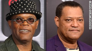 Actors Samuel L. Jackson, left, and Laurence Fishburne