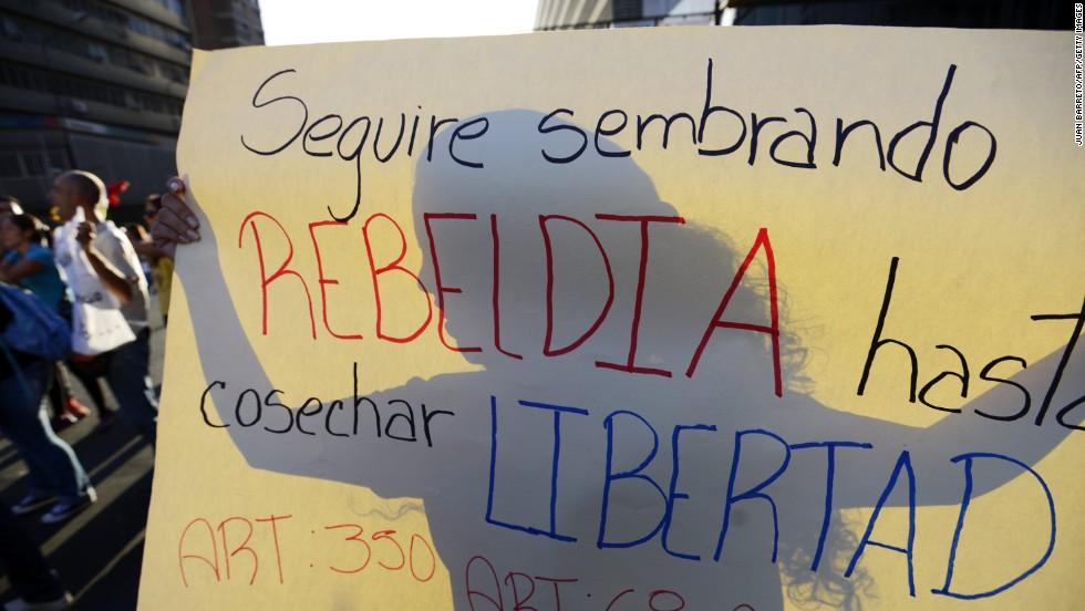 Siguen las manifestaciones estudiantiles en Venezuela