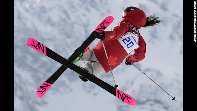 Canada's Yuki Tsubota competes in the women's slopestyle event on February 11.