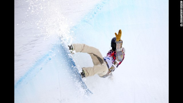 Gregory Bretz of the United States competes in the men's halfpipe.