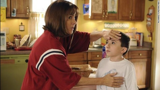 "Patricia Heaton as Frankie Heck, a car saleswoman, and later a dental hygienist in ""The Middle."""