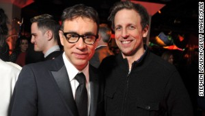 Seth Meyers, right, takes over \