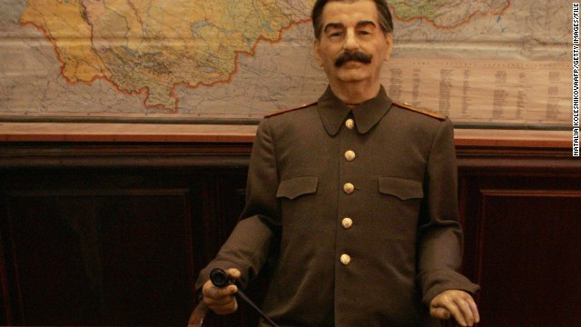Anything Madame Tussauds can do ... Meet the dacha's Stalin waxwork.