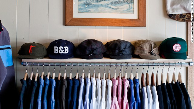 Owner Eli Cox, 27, opened the 168-square-foot store on a credit card in 2012. Berkeley Supply exclusively features American-made brands, including shirts and hats by Taylor Stitch, Rogue Territory, Ball & Buck and Denver's own Topo Designs.