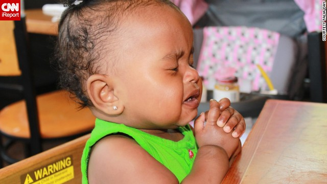 """Oh please don't let it be more squash flavored baby food!"" -- Mia Lockett, age 11 months, has a sophisticated palate."
