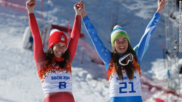 There have been instances of shared medals in alpine skiing at the Olympics, but they were for silver in 1964, 1992 and 1998.