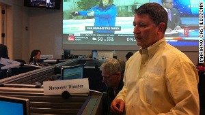 Steve Lewis is the logistics director at Georgia Power\'s storm center