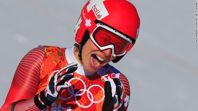 Gisin had appeared set to claim outright gold in the women's downhill after finishing with a time of 1 minue 41.57 seconds, which would have been a shock result given her lack of recent race victories.