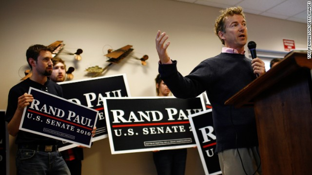 Paul speaks to hometown supporters in Bowling Green during his campaign for the Senate in November 2010.