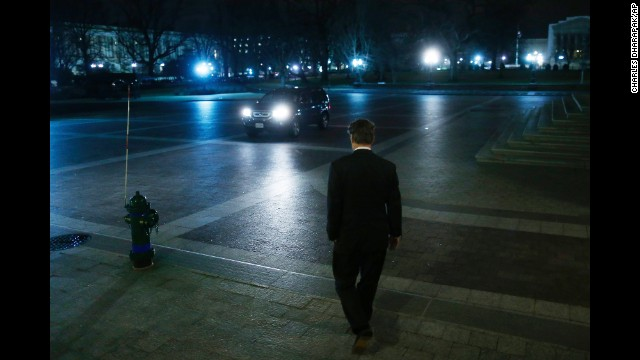 Sen. Rand Paul leaves the Capitol after staging a filibuster over the nomination of John Brennan to head the CIA in March 2013..