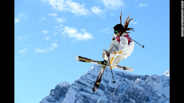 Skier Henrik Harlaut of Sweden competes in the men's slopestyle on February 13.