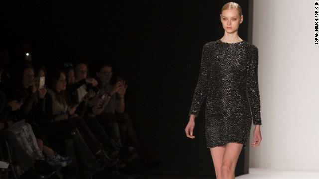 Cocktail Dresses Fall 2014 metallic cocktail dress as