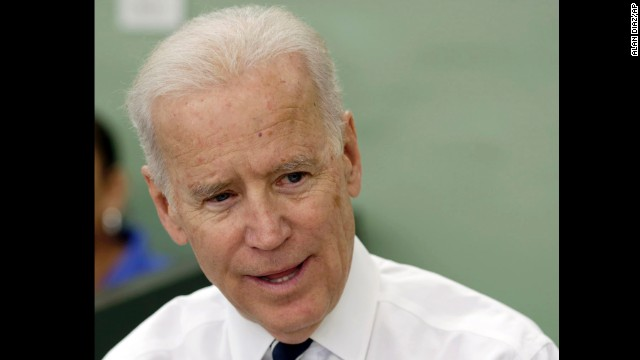 After attending a private fundraising event in Florida, Joe Biden made an unscheduled stop at Allen's drugstore and S&S Diner in Miami, on Wednesday, Feb. 12, 2014, where he held an impromptu discussion on Obamacare with a group of women.