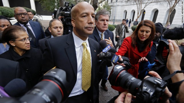 A reformer who led New Orleans through its worst disaster in modern history, Ray Nagin is was convicted for taking hundreds of thousands of dollars in bribes and other favors from businessmen looking for a break from his administration. He was convicted of 20 of the 21 corruption-related counts against him and faces up to 20 years in prison. Prosecutors said Nagin, 57, was at the center of a kickback scheme in which he received checks, cash, wire transfers, personal services and free travel from businessmen seeking contracts and favorable treatment from his city.