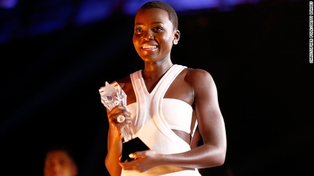 The beautiful Kenyan actress has risen to Hollywood fame, winning several accolades, including Best Supporting Actress at the 19th Annual Critics' Choice Movie Awards last month.